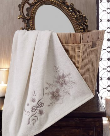 bamboo towel with embroidery